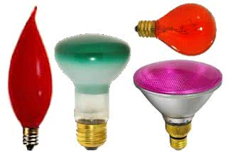 Product Incandescent, colored-bulbs